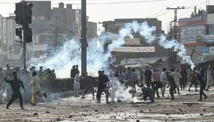 سیالکوٹ: مظاہرین کا احتجاج جاری