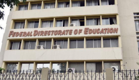 اسلام آباد کے تعلیمی اداروں کے نام ایف ڈی ای کا مراسلہ