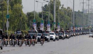 لاہور پولیس کا فلیگ مارچ