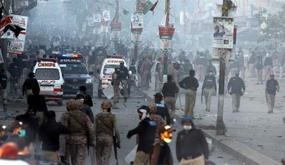 کراچی: حب ریور روڈ آج صبح پھر کلیئر کرایا گیا، 40 گرفتار