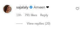 سجل کی ساس کیساتھ رمضان کی پہلی تصویر مقبول