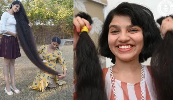 بھارتی لڑکی نے 12 سال بعد بال کٹوالئے
