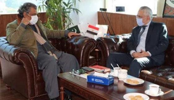 وفاقی وزیر بحری امور کی مصر کے سفیر سے ملاقات