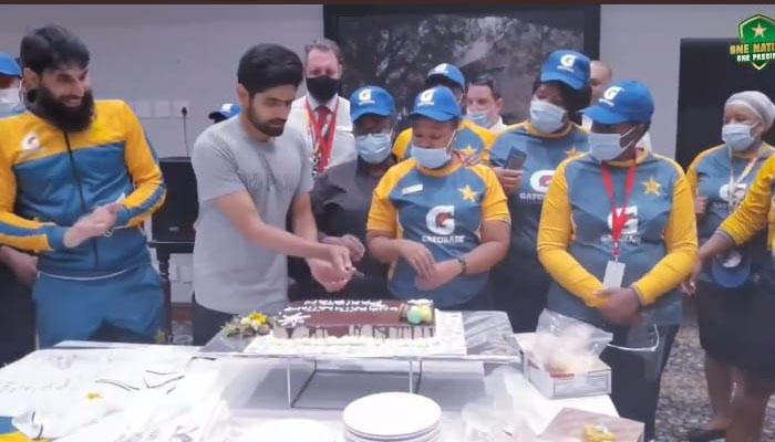 ون ڈے اور ٹی20 سیریز جیتنے کے بعد قومی ٹیم کا جشن