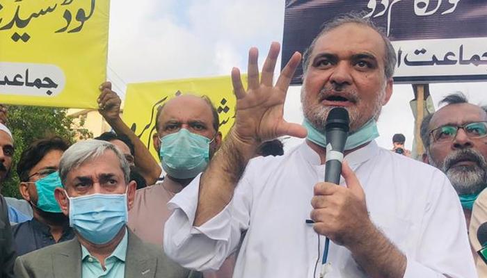 حافظ نعیم الرحمٰن کا کے الیکٹرک پر بھاری جرمانے کا مطالبہ