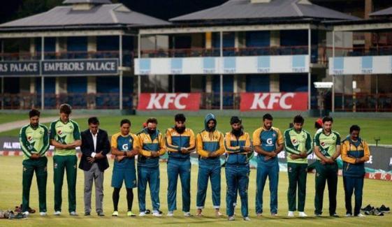 سیریز جیتنے کے بعد قومی ٹیم کی نماز پڑھتے تصویر وائرل
