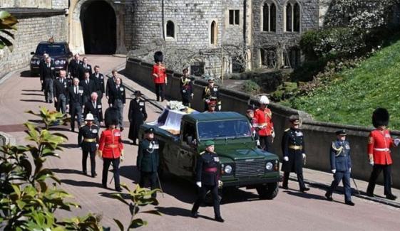 ملکہ برطانیہ کے شوہر پرنس فلپ کی آخری رسومات ادا کردی گئیں