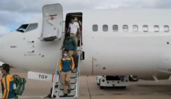 پاکستان کرکٹ ٹیم زمبابوے پہنچ گئی
