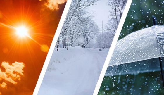 ملک میں کہیں گرمی، کہیں بارش، کہیں برف باری