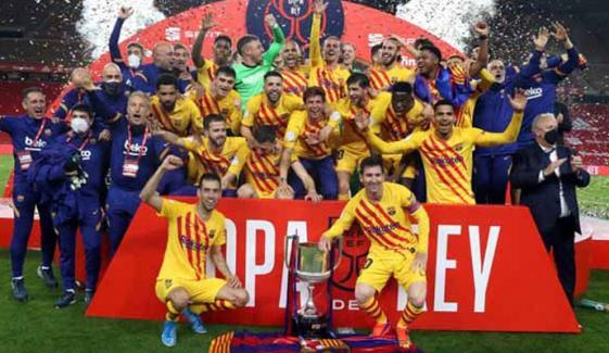 بارسلونا نے کوپا ڈیل رے کپ جیت لیا