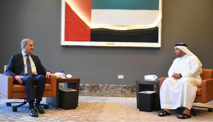شاہ محمود قریشی  کی اماراتی وزیر مملکت برائےخارجہ سے ملاقات