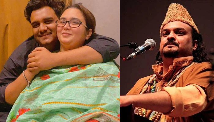 امجد صابری کی اہلیہ اور بیٹے کی تصاویر وائرل
