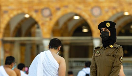 مسجدالحرام: خواتین سیکورٹی اہلکار صحن مطاف میں تعینات