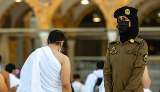 مکہ مکرمہ میں خاتون سیکیورٹی اہلکار کے چرچے