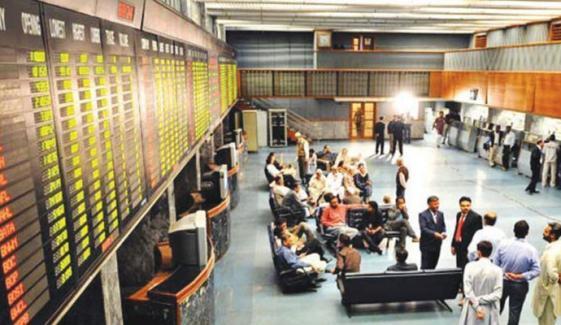 اسٹاک ایکسچینج میں کاروبار کا مثبت دن، 100 انڈیکس میں 486 پوائنٹس کا اضافہ