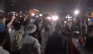 کراچی: مظاہروں سے گزشتہ شب 2 علاقوں میں صورتحال کشیدہ رہی