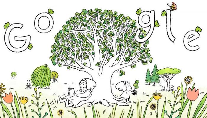 یومِ ارض، روشن مستقبل کیلئے درخت لگانے کی ترغیب دیتا گوگل کا نیا ڈوڈل