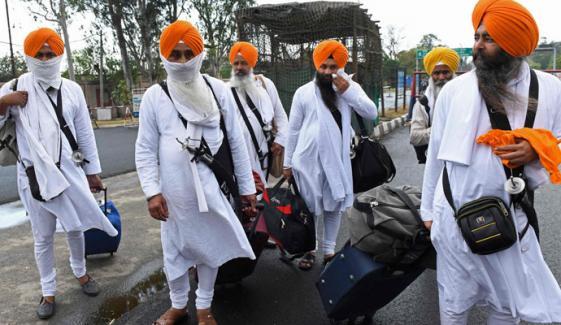لاہور آنے والے سکھ یاتریوں کی بھارت واپسی