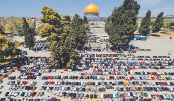 قبلہ اوّل میں رمضان کے دوسرے جمعہ کی نماز ادا