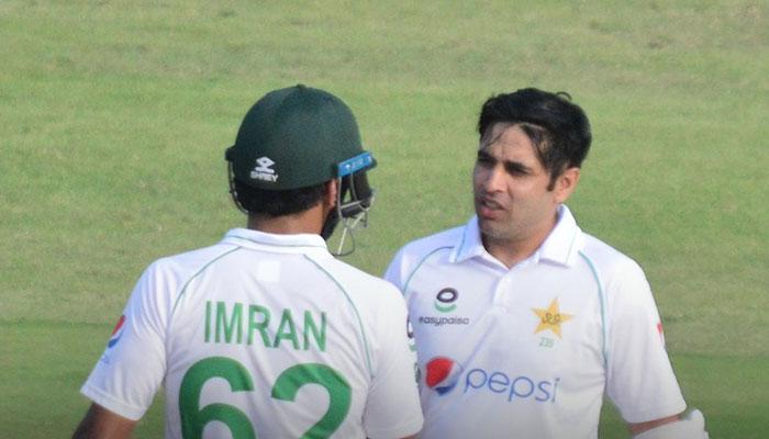 ہرارے ٹیسٹ: پہلا دن ختم، پاکستان کے 103 رنز، 73 رنز کا مزید خسارہ باقی