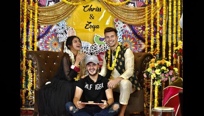 زویا ناصر اور یوٹیوبر کرسٹن بیٹزمین کی شادی کی تقریبات کا آغاز