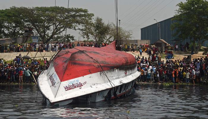 بنگلادیش : دو کشتیوں کے درمیان تصادم ، 26 افراد جاں بحق