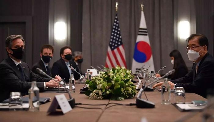 جی سیون اجلاس پر امریکی اور جنوبی کوریائی وزرا خارجہ کی ملاقات، دو طرفہ معاملات پر گفتگو