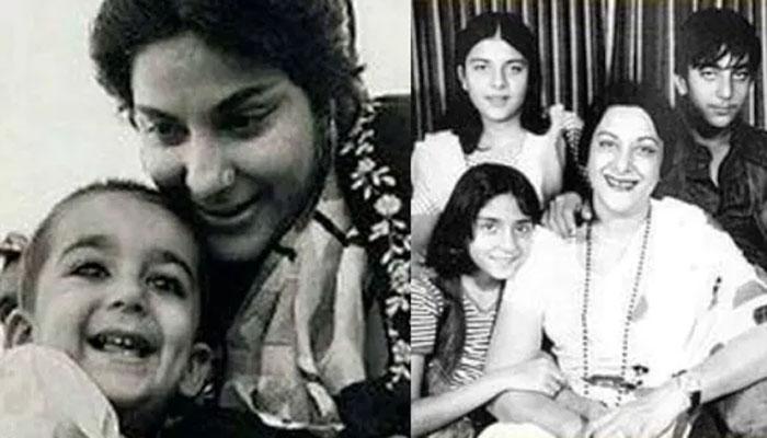 سنجے دت نے اپنی والدہ نرگس کی چالیسویں برسی منائی، بچپن کی پرانی تصویر شیئر کی