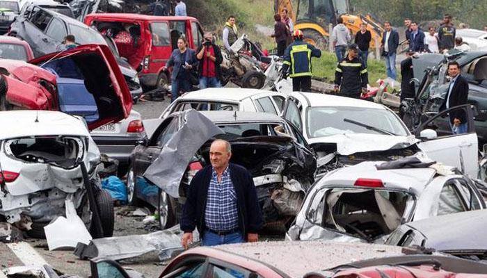 چین میں6گاڑیاں آپس میں ٹکرا گئیں ، 6افراد ہلاک