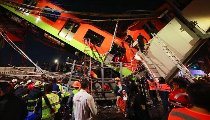 میکسیکو : میٹرو ٹرین کا ٹریک گرنےسے 15افراد ہلاک