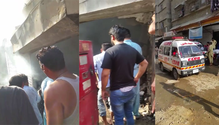 کراچی: لیاقت آباد میں جنریٹر کی دکان جل گئی