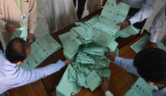 اب تک 55 ووٹ مسترد، گنتی جاری