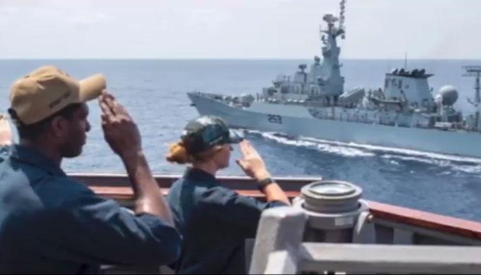 پاک بحریہ کی کثیر الملکی بحری آپریشن 'چینوک آرچر' میں شرکت