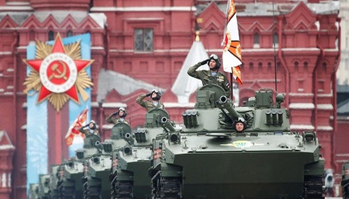 روسی دارالحکومت ماسکو میں وکٹری ڈے پریڈ