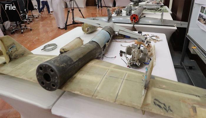 سعودی شہر جیزان میں حوثیوں کا ڈرون تباہ