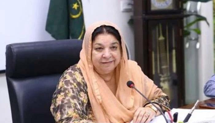 عید پر سادگی سے خوشیاں مناکر ذمہ دار پاکستانی ہونے کا ثبوت دیں، یاسمین راشد