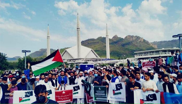 اسلام آباد: نمازِ عید کے بعد اسرائیلی جارحیت کیخلاف جماعت اسلامی کا مظاہرہ