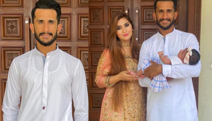 حسن علی کی فیملی کے ہمراہ عید کی مبارکباد
