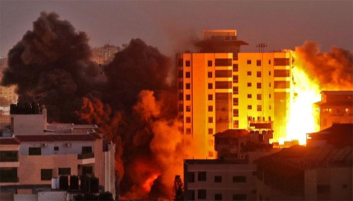 غزہ: اسرائیلی حملوں میں شہید فلسطینیوں کی تعداد 87 ہوگٸی