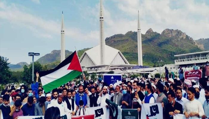 یوم فلسطین، اسرائیل کیخلاف ملک گیر احتجاج