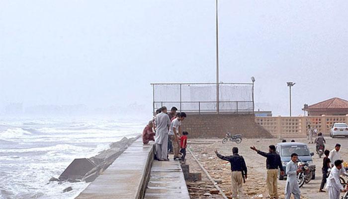 محکمہ موسمیات کی جانب سےسمندری طوفان سےمتعلق پانچواں الرٹ جاری