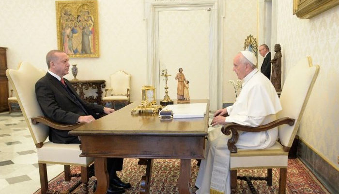 ترک صدر رجب طیب اردوان کا پوپ فرانسس سے فون پر رابطہ