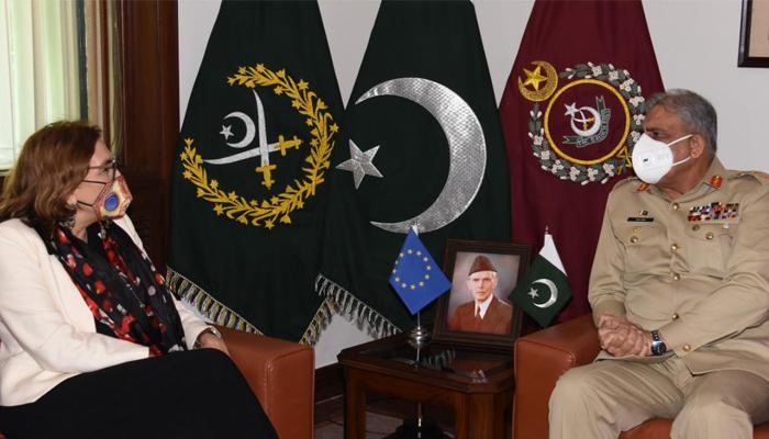 آرمی چیف سے یورپی یونین کی سفیر کی اہم ملاقات