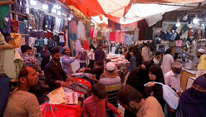 کراچی: بازار عید تعطیلات، لاک ڈاون بندش کے بعد کھل گئے