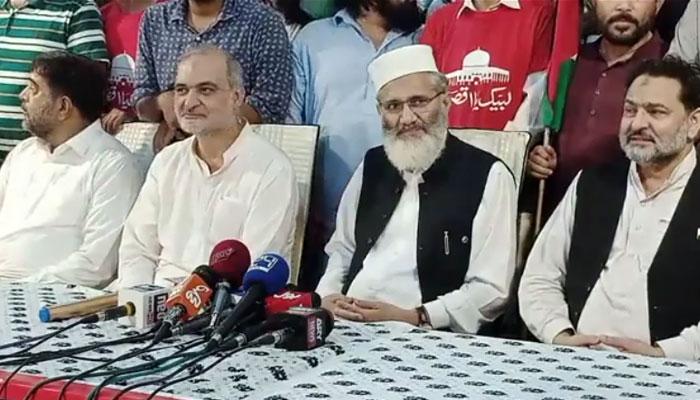 فلسطینیوں کیلئے آج کراچی کے لوگ نکلیں گے: سراج الحق