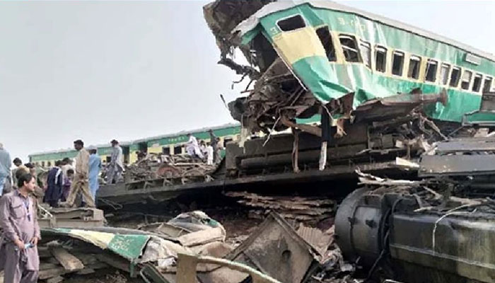 ٹرین حادثے میں جاں بحق افراد کی تعداد41ہوگئی،100سےزائد زخمی
