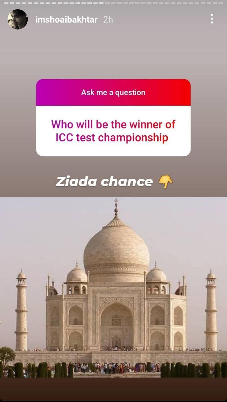 ICC ٹیسٹ چیمپئن شپ بھارت جیتے گا: شعیب اختر