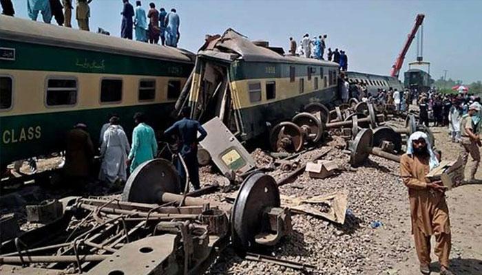 ٹرین حادثے کے زخمیوں میں دولہا بھی شامل