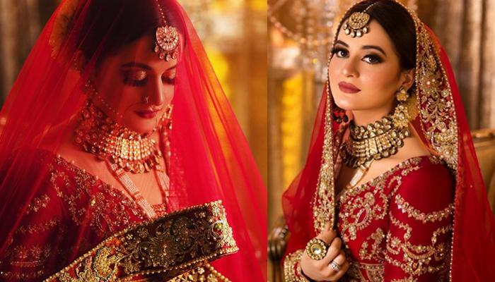 ایمن خان کا خوبصورت نیا برائیڈل شوٹ وائرل