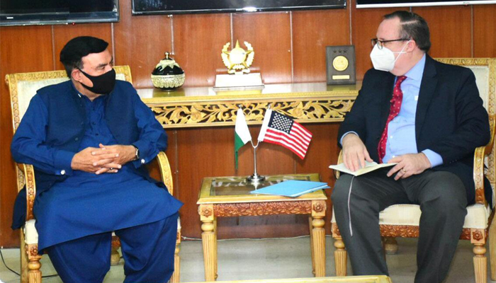 Mention of Omar Sheikh in the meeting between Sheikh Rashid and the US envoy